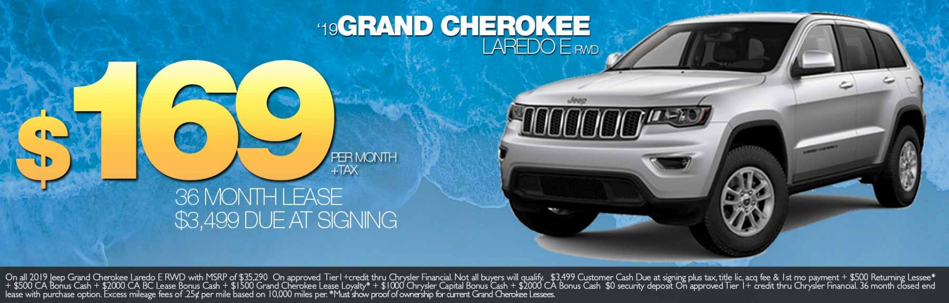 2019 Grand Cherokee Laredo E lease