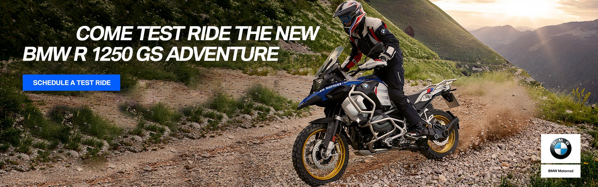 Schedule a Test Ride - Come to test ride the new BMW R 1250 GS ADVENTURE