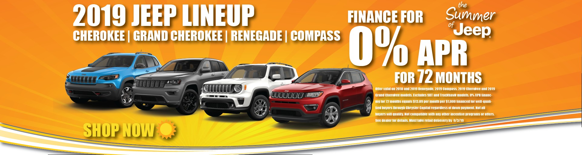 2019 Jeep Line Up