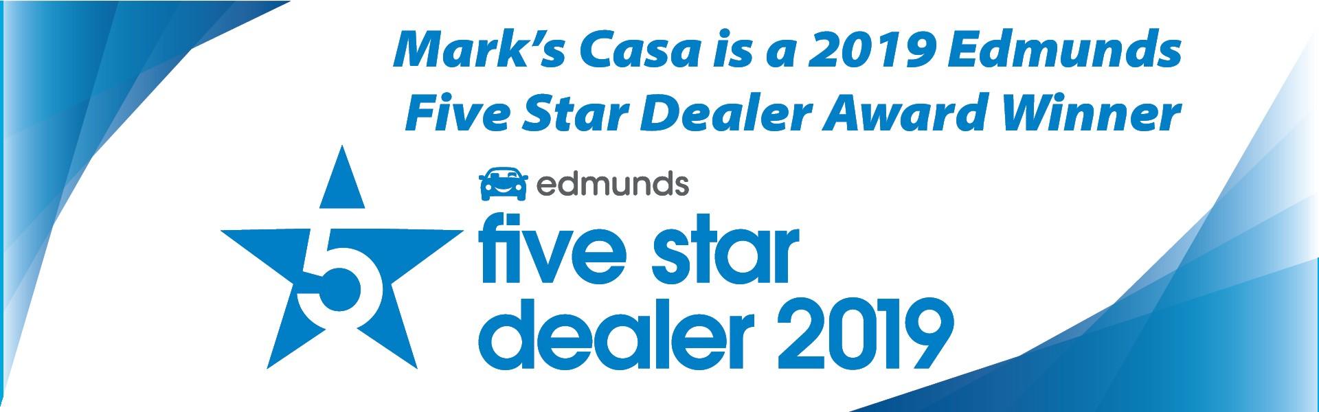 2019 Edmunds 5 Star Dealer Award