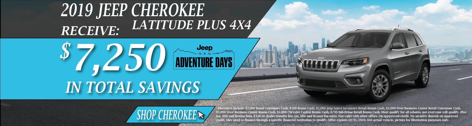 2019 Jeep Cherokee October