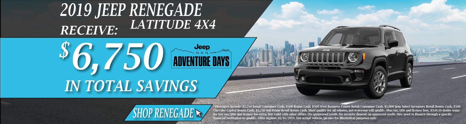 2019 Jeep Renegade October