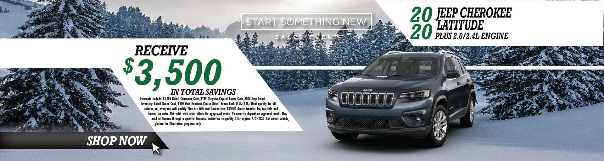 2020 Jeep Cherokee Latitude Plys