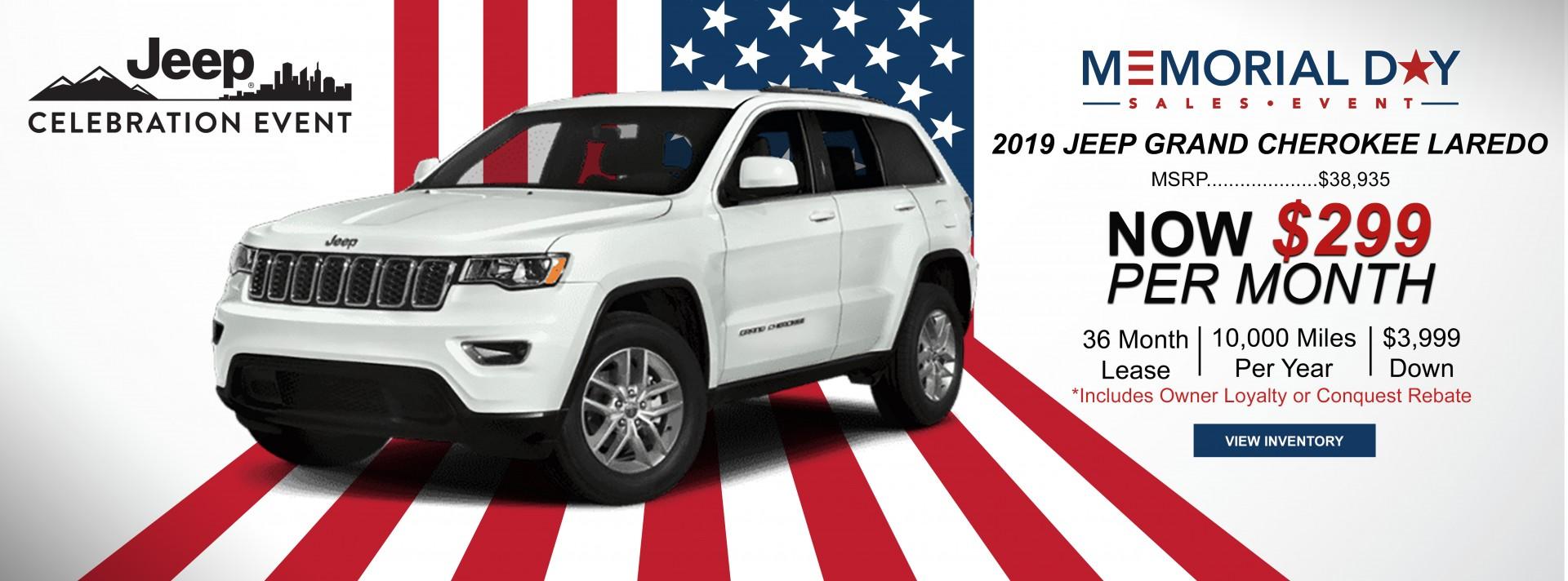 2019 Grand Cherokee Laredo