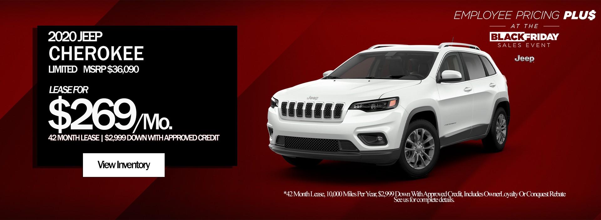 Jeep Cherokee Black Friday Special