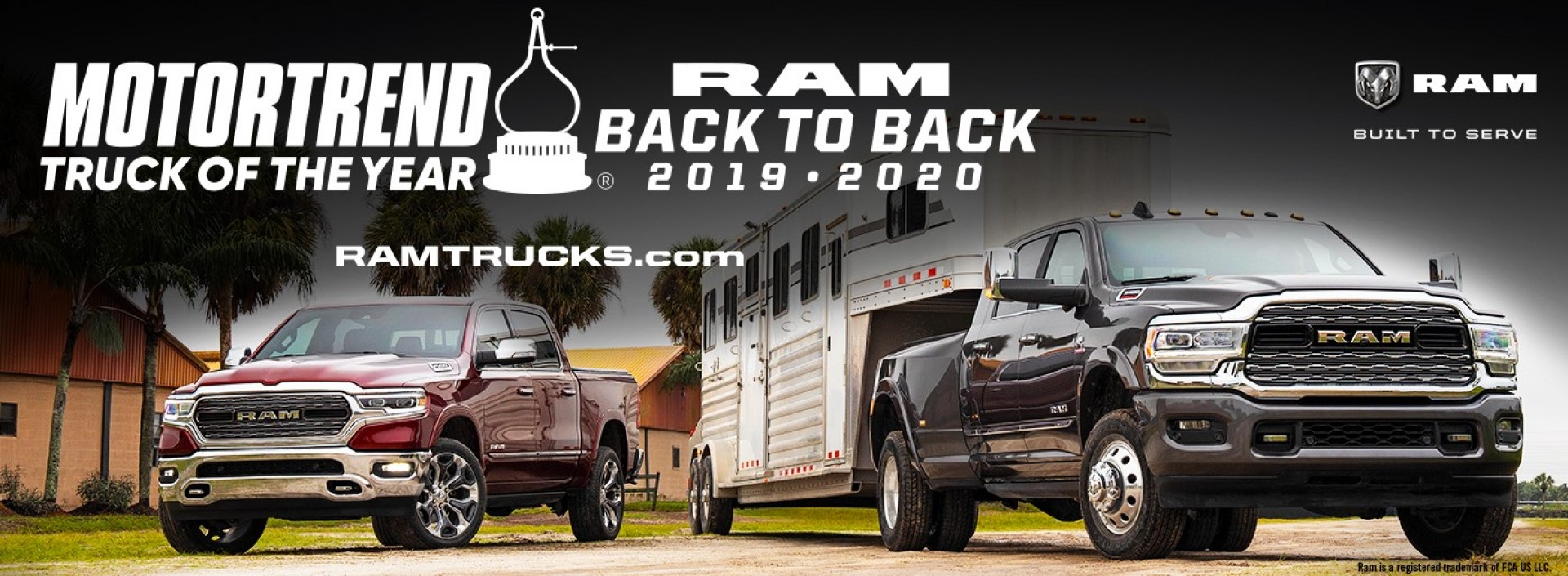 MotorTrend ram Back to back truck of the year 2019 2020