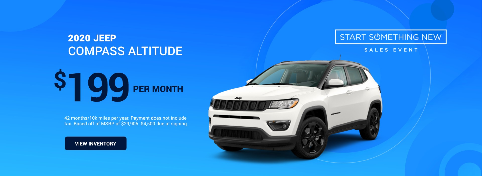 2020 Jeep Compass Altitude - Start Something New Event