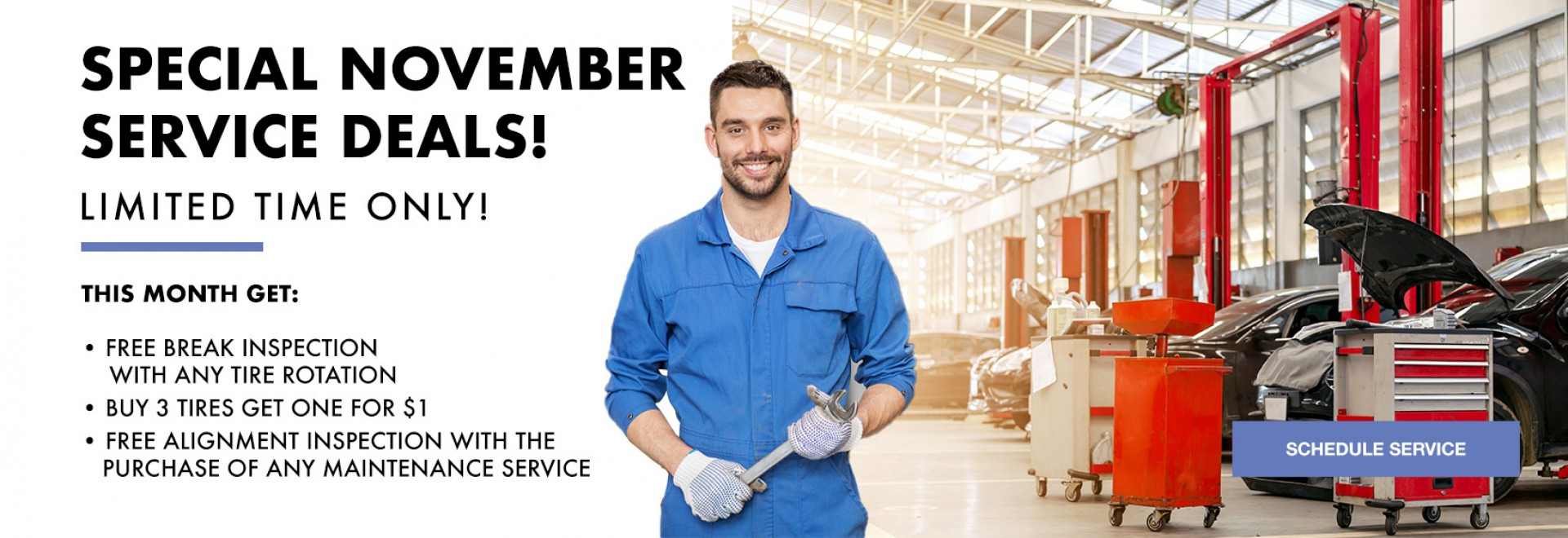 Special November Service Deals - Limited Time Only