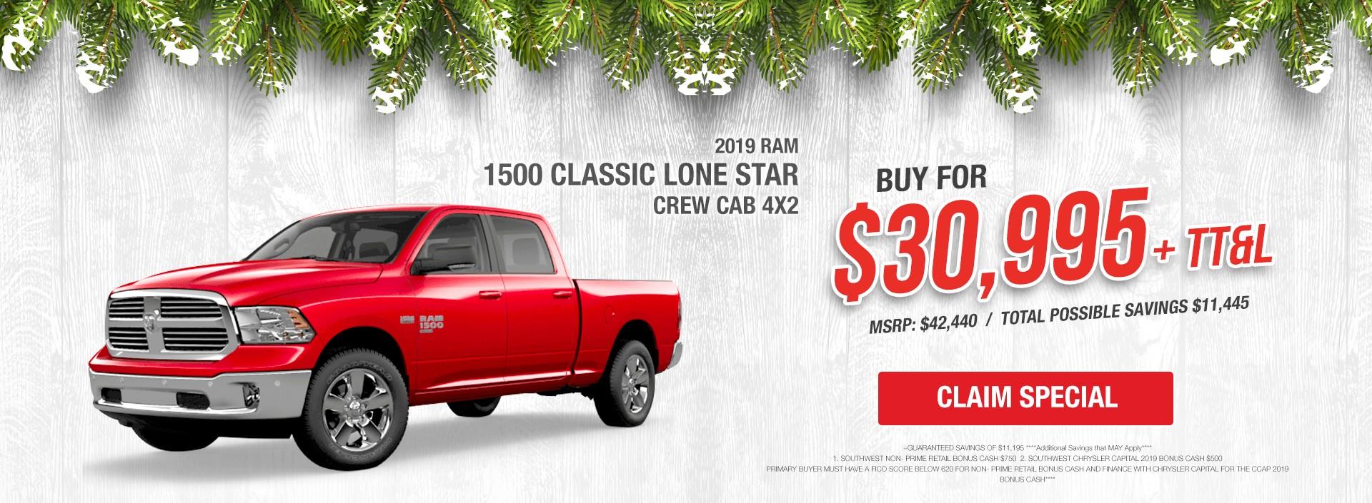 January RAM 1500 Lone Star