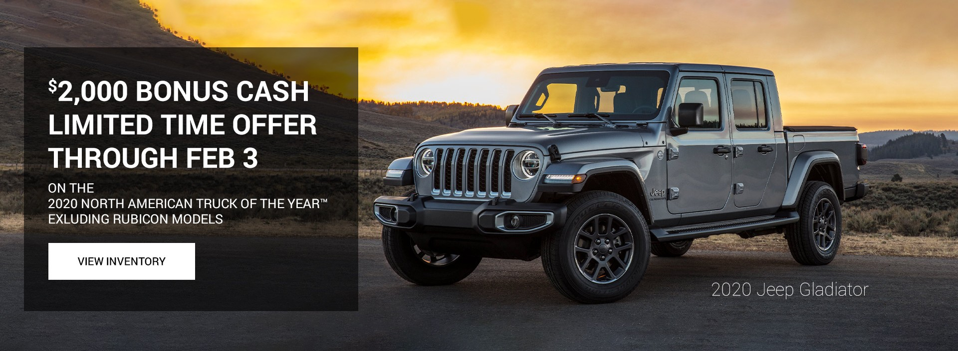 Jeep Gladiator $2000 Limited Offer