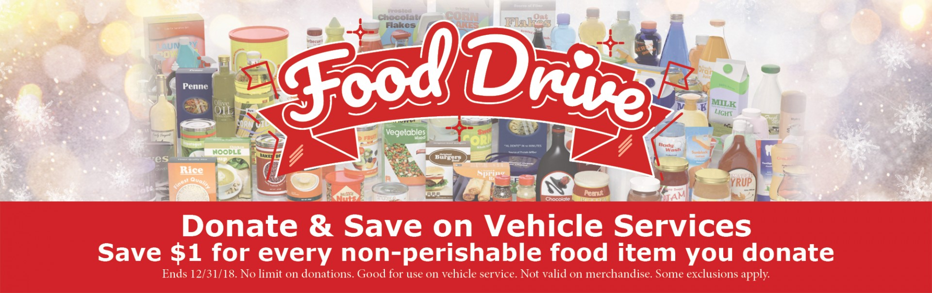 Van Horn Manitowoc Holiday Food Drive