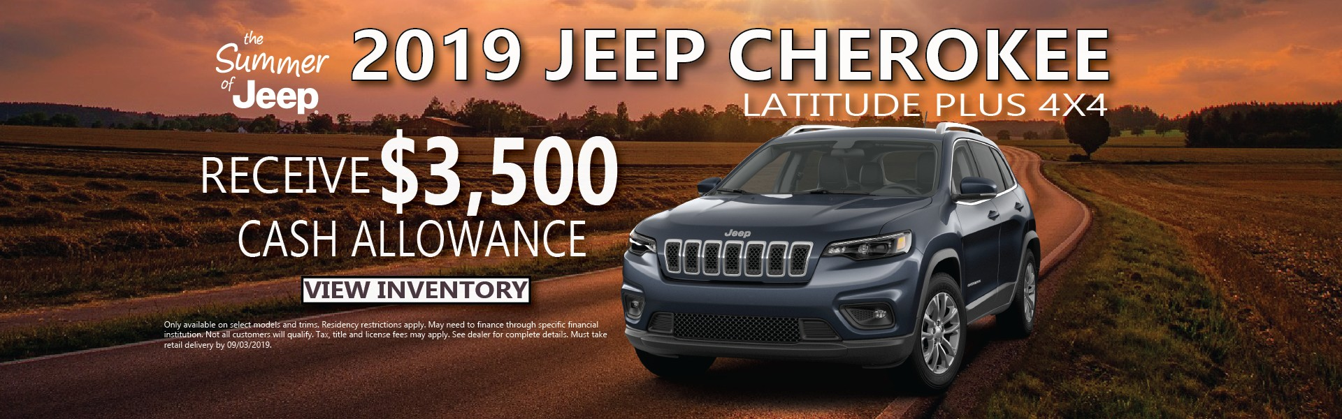 2019 Cherokee Finance Offer
