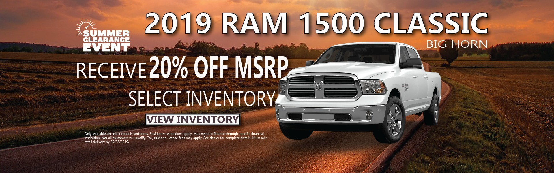 2019 Ram 1500 Classic Finance Offer