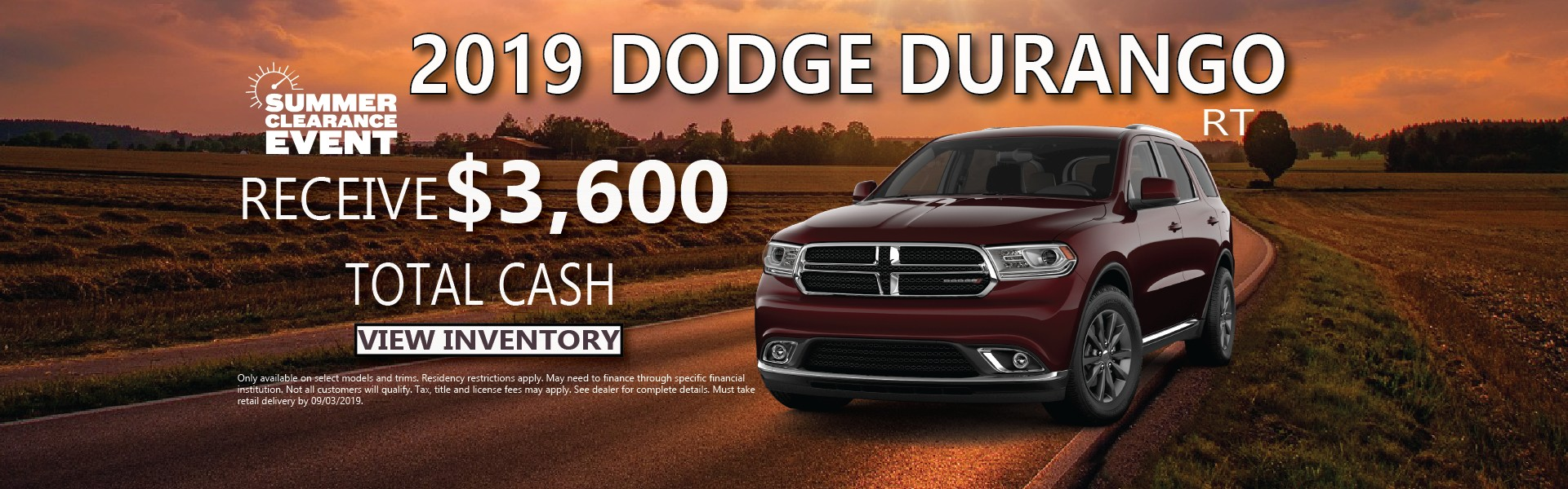 2019 Dodge Durango Finance Offer