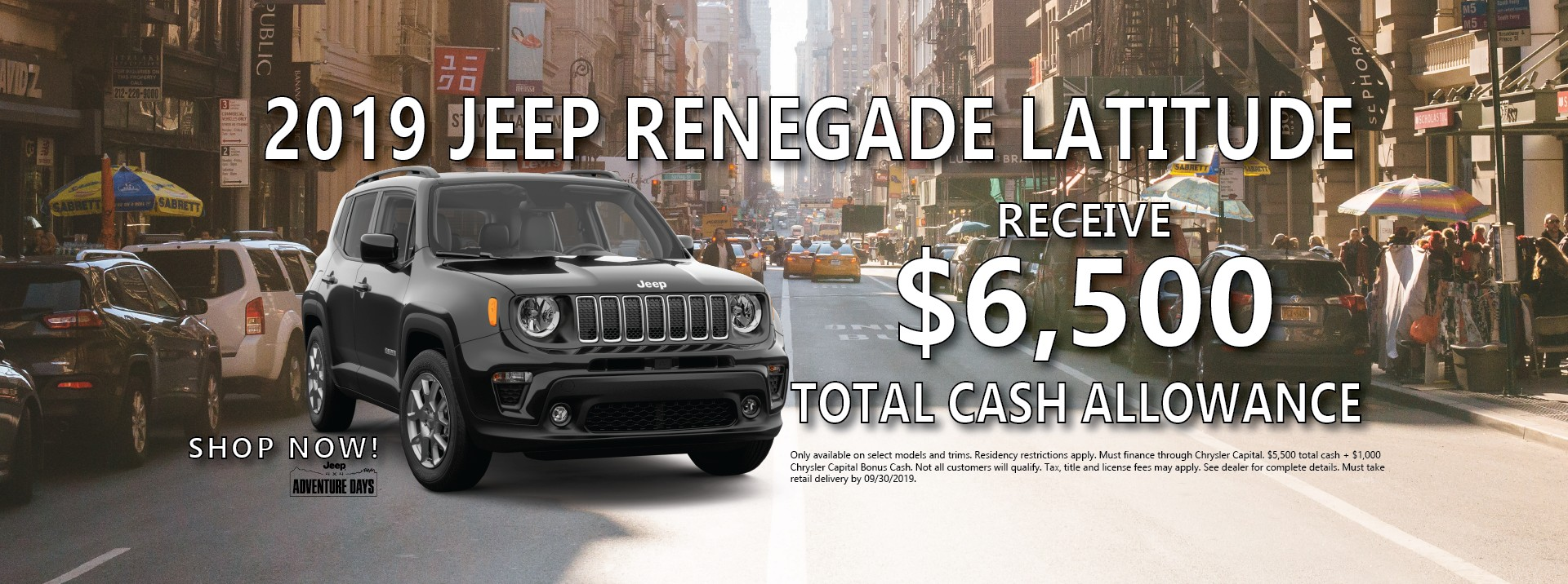 2019 Jeep Renegade Finance Offer