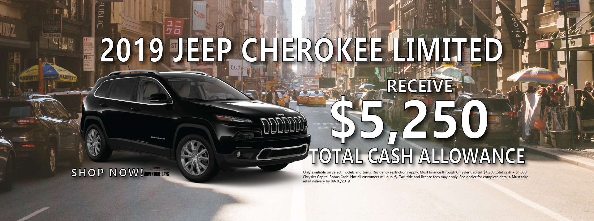 2019 Jeep Cherokee Finance Offer