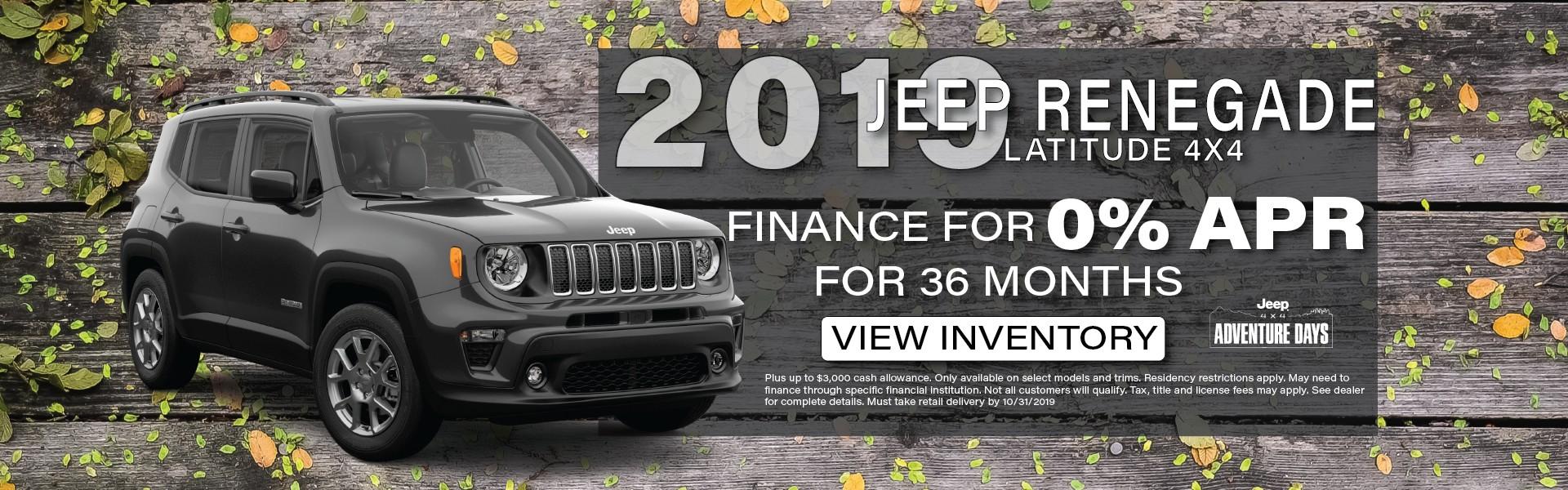 2019 Jeep Renegade, Manitowoc WI