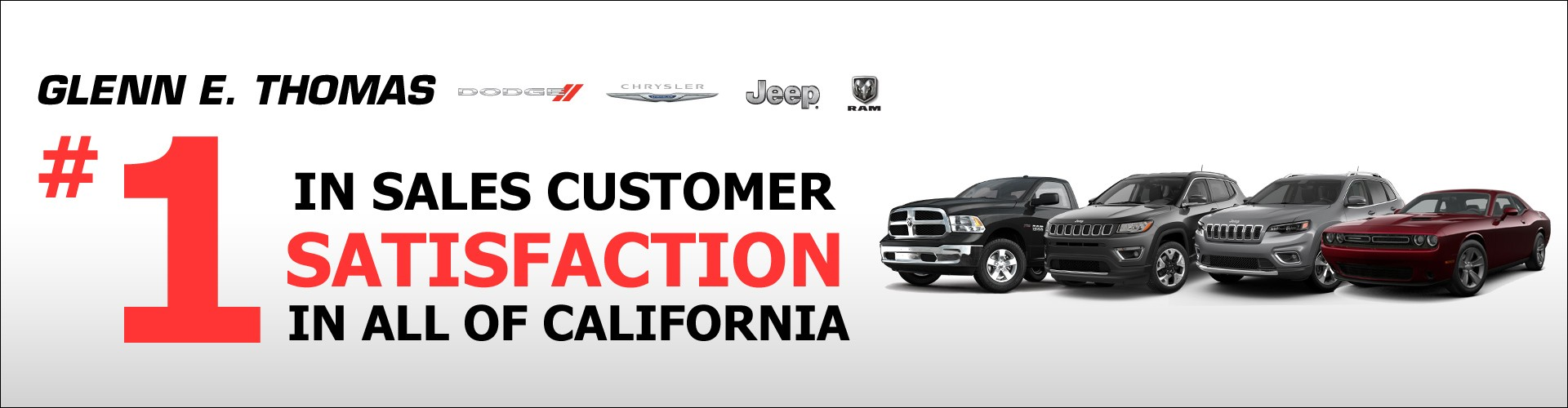 Glenn E. Thomas is number 1 in sales customer satisfaction in all of California.