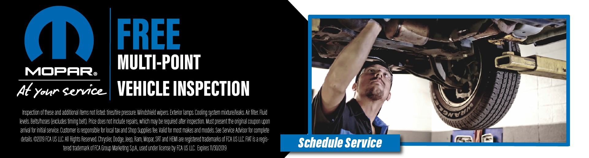 Mopar Vehicle Inspection