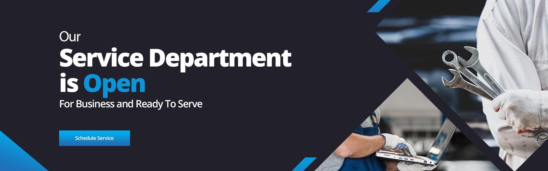 Service Department is Open