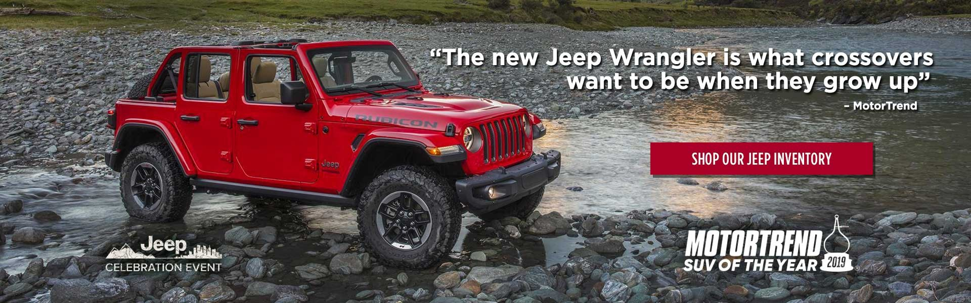 Wrangler Wins 2019 MotorTrend SUV of the Year