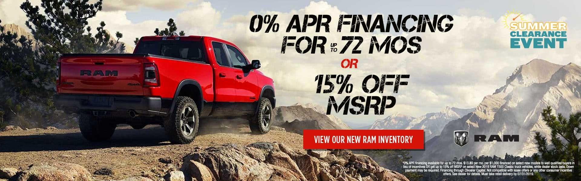 Dual Ram July Offer