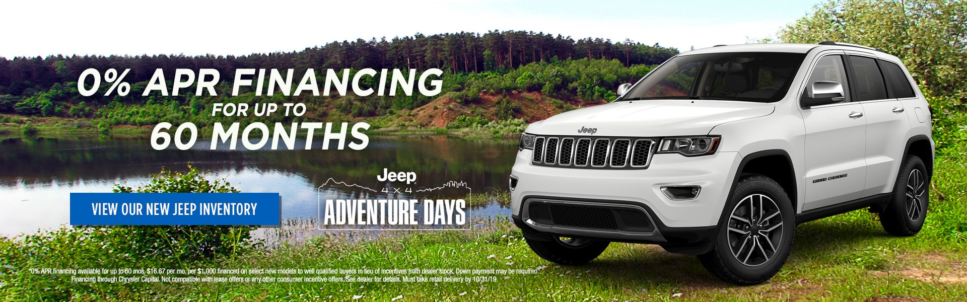 Jeep Adventure Days 0% Financing for 60 Months