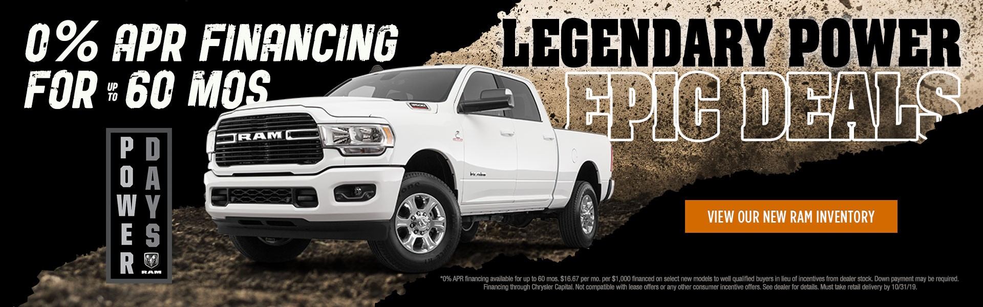 Ram Power Days 0% Financing for 60 Months
