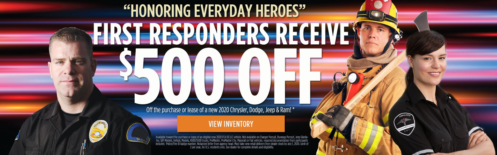 First Responders Receive $500