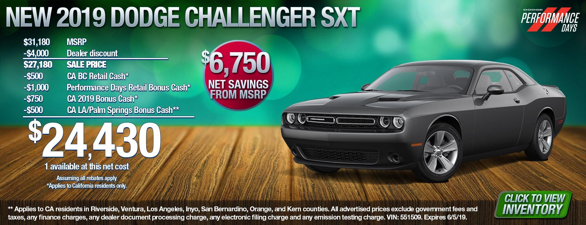 19 Challenger SXT