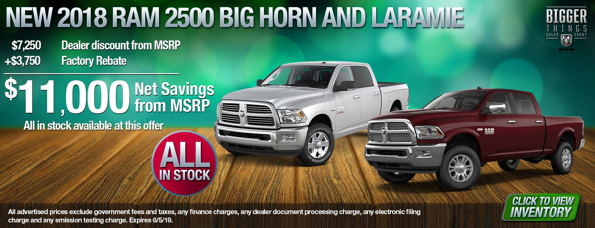 18 RAM 2500 BH and Laramie