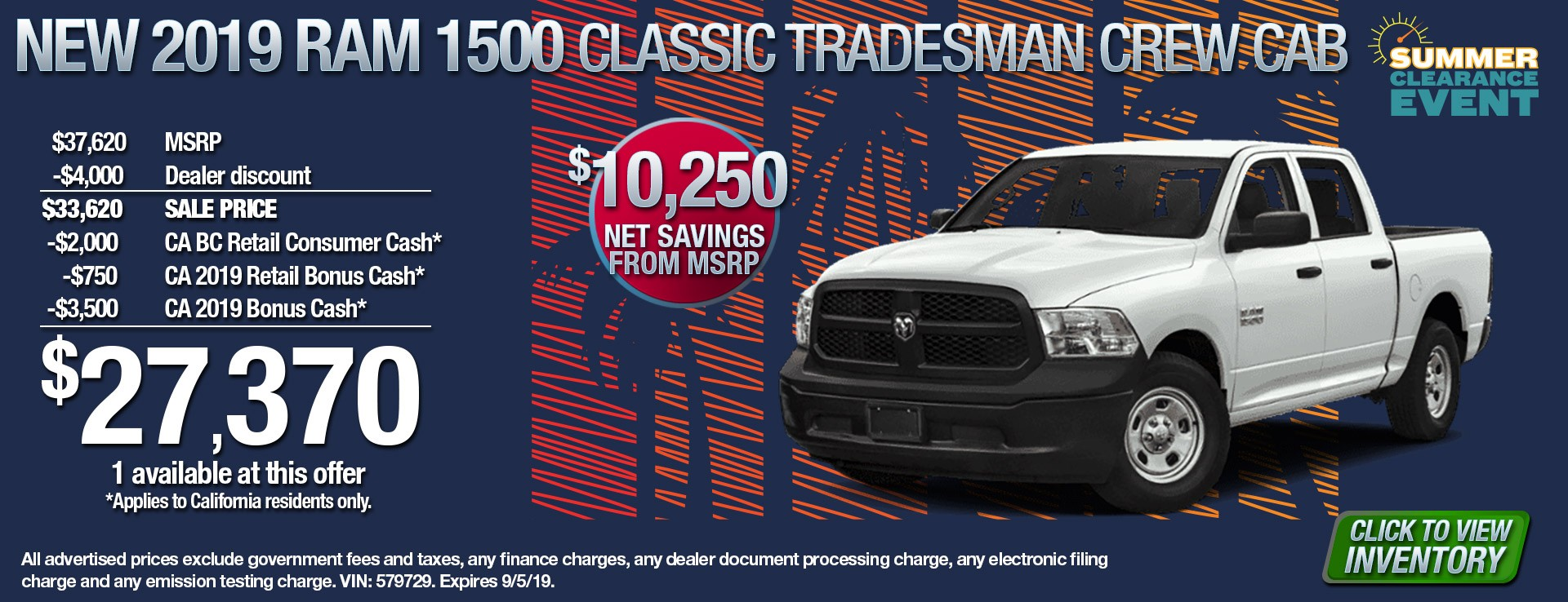 19 Ram 1500 Class Trade