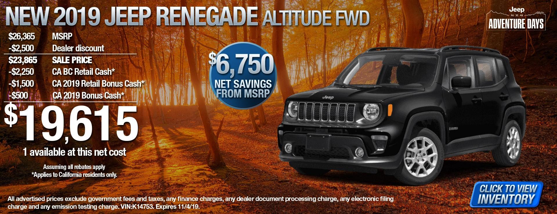 19 Jeep Renegade Alt