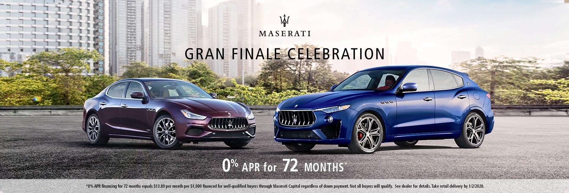 Gran Finale Celebration 0% APR for 72 Months