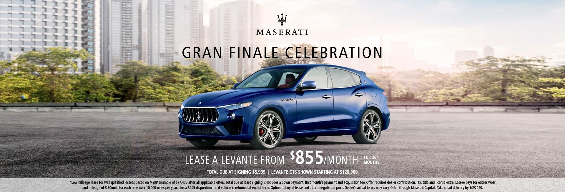 Gran Finale Celebration Levante GTS Starting at $120,980