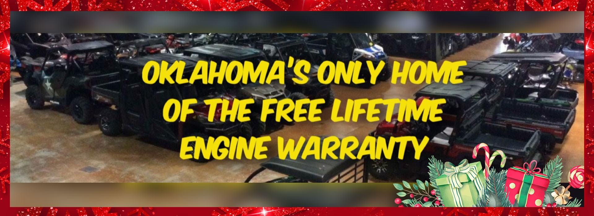 Oklahoma's only home of the free lifetime engine   warranty