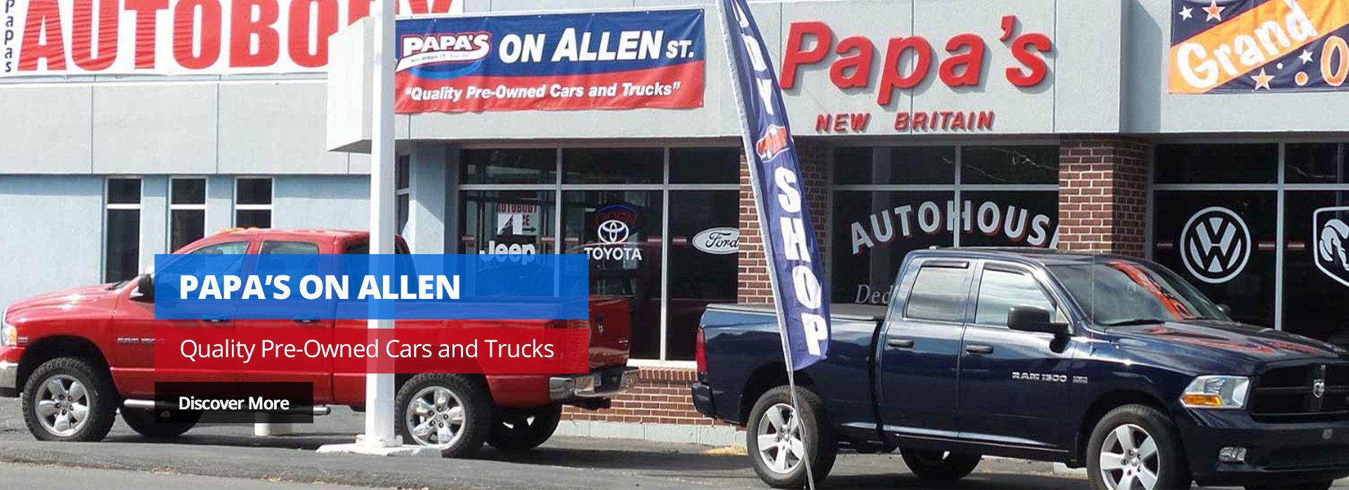 Papa's on Allen - Quality Pre-Owned Cars and Trucks. Discover More