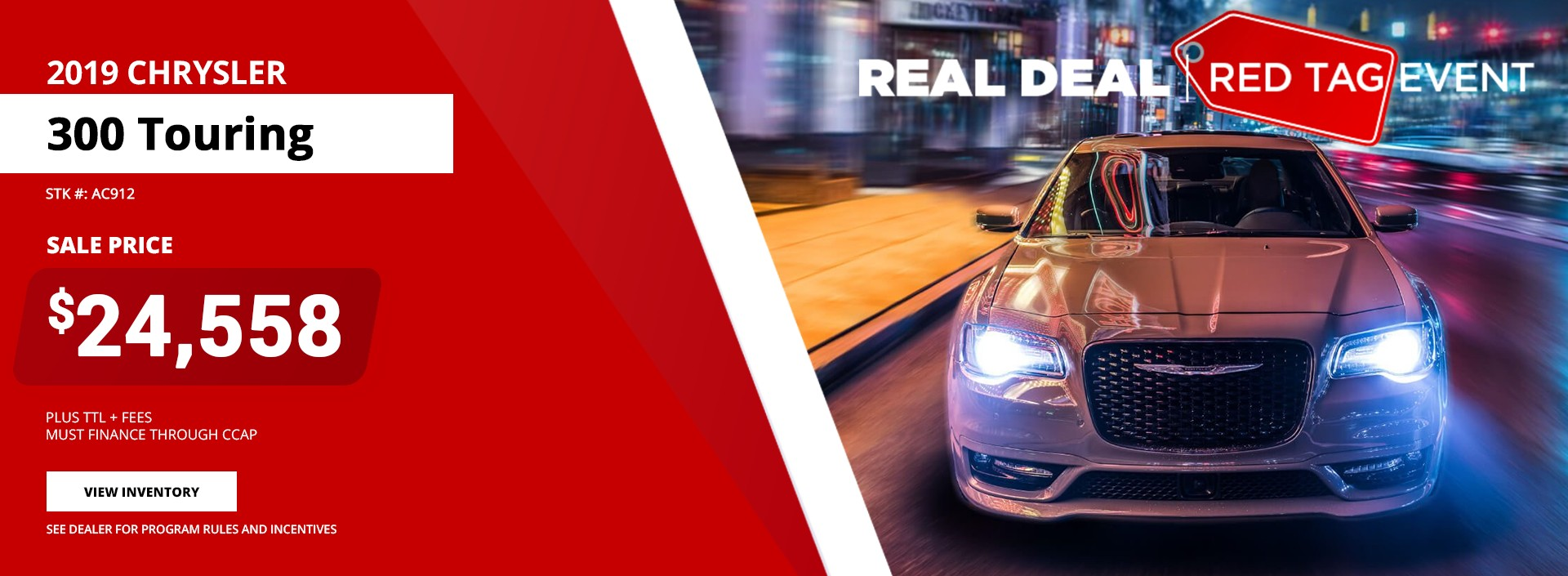 2019 Chrysler 300 Touring - Red Tag Event