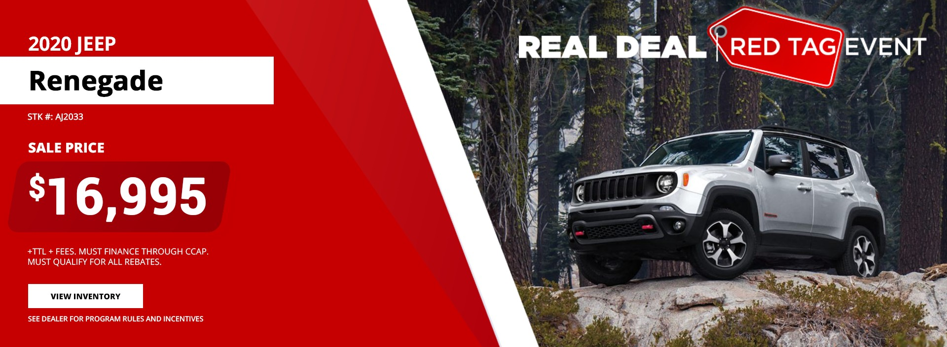 2020 Jeep Renegade - Red Tag Event