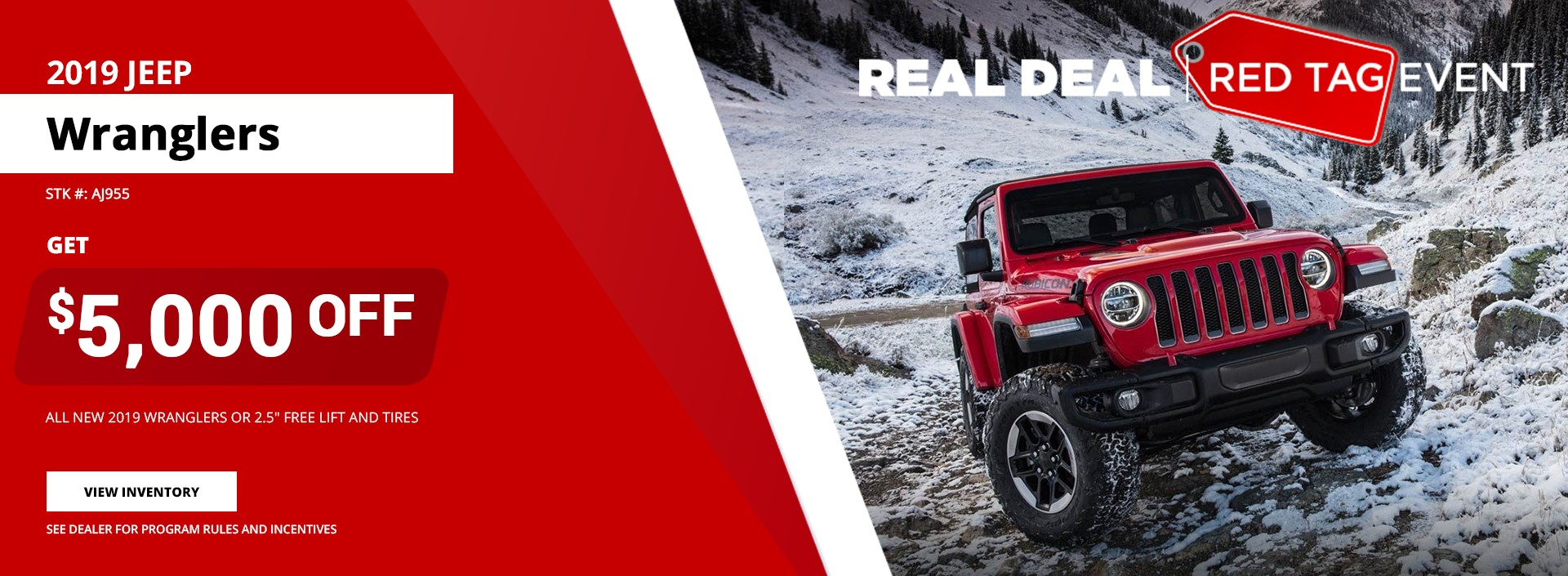 2019 Jeep Wranglers - Red Tag Event