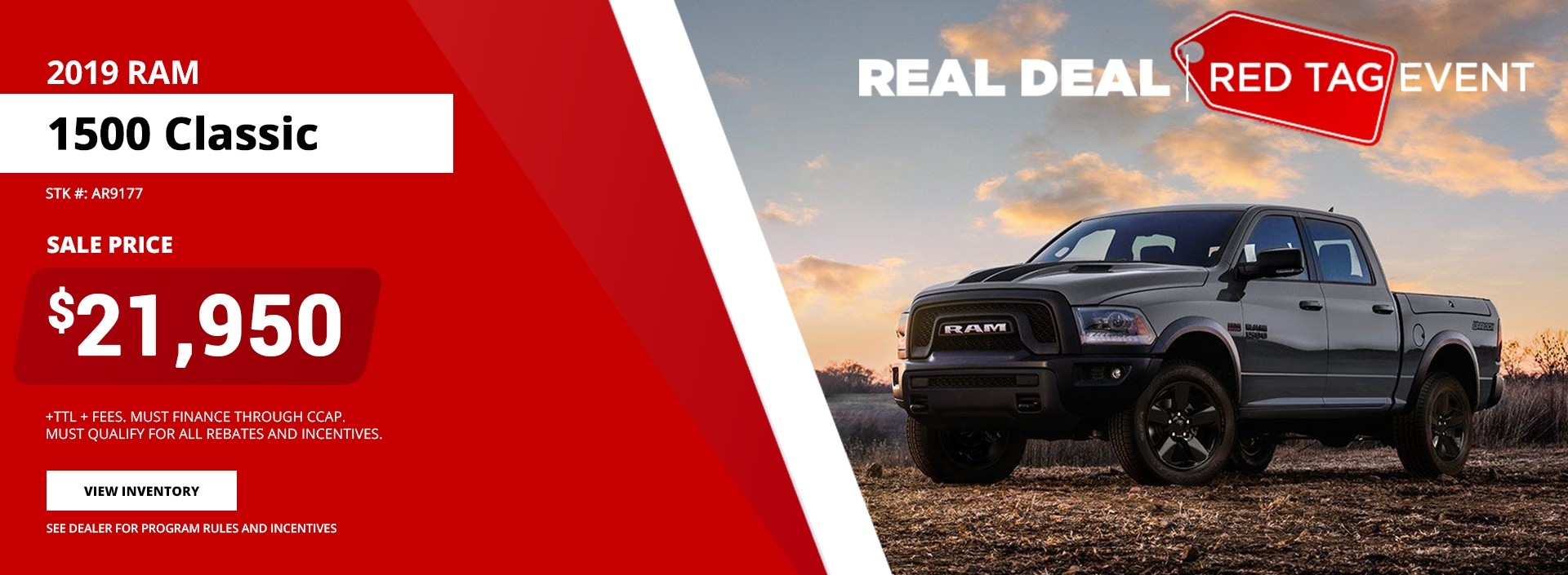 2019 Ram 1500 Classsic - Red Tag Event