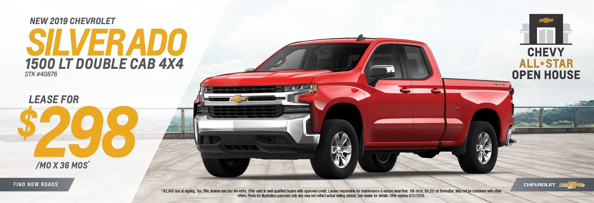 New 2019 Chevrolet Silverado 1500 LT Double CAb 4x4