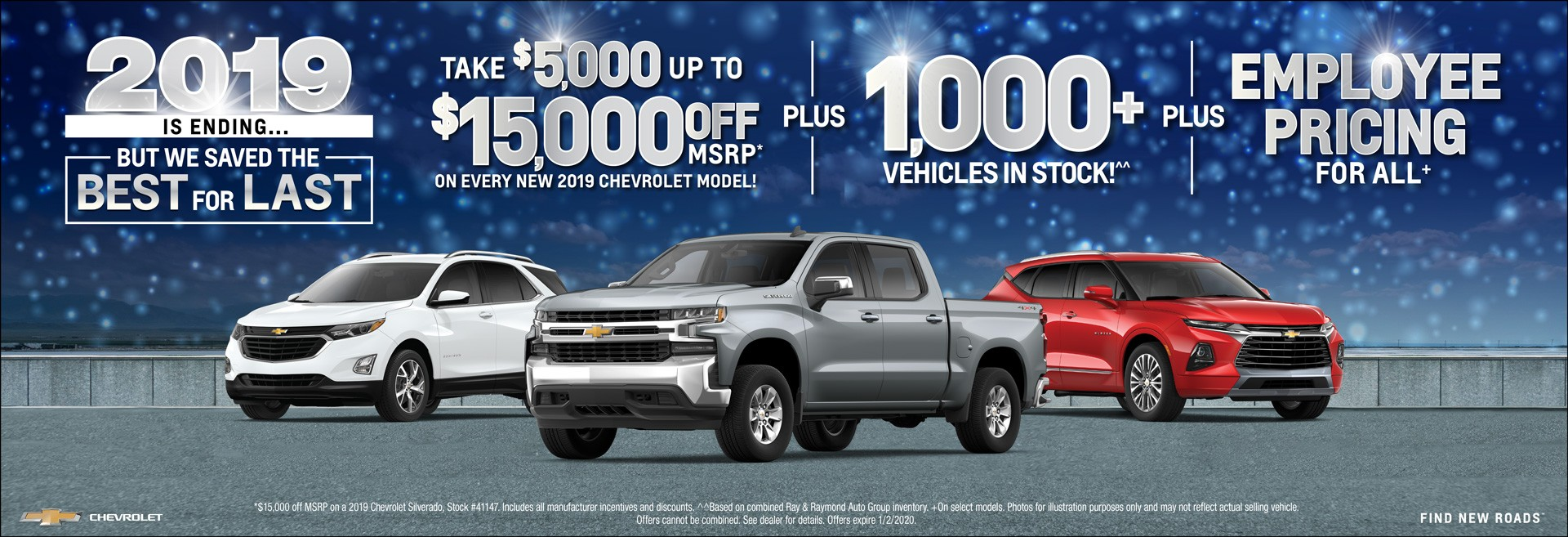 Best for Last - Take $5,000 up to $15,000 OFF MSRP + 1000 Vehicles in stock + Employee Pricing for all