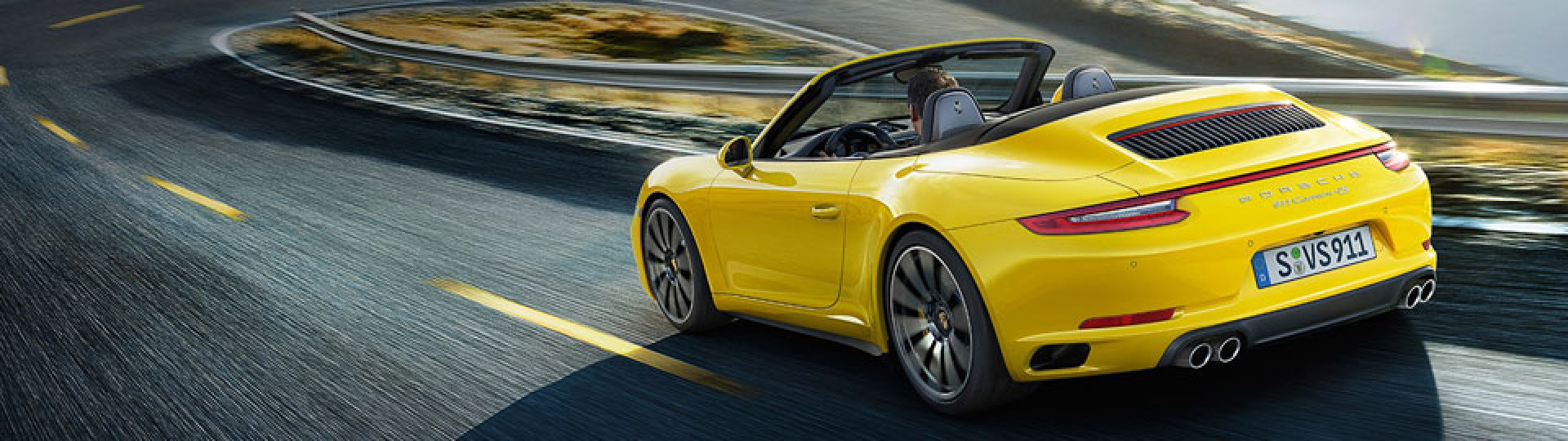 Porsche on the road,