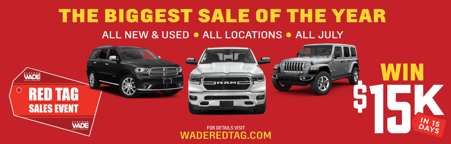Red Tag Sales Event