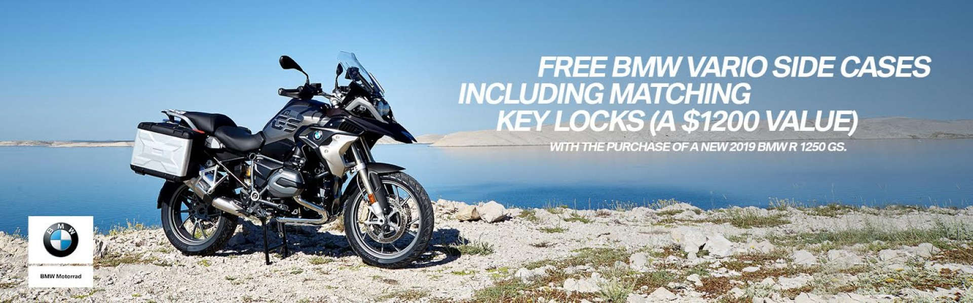 Free Bmw Vario Side Cases Including Matching Key Locks w/ purchase of new 2019 BMW R 1250 GS