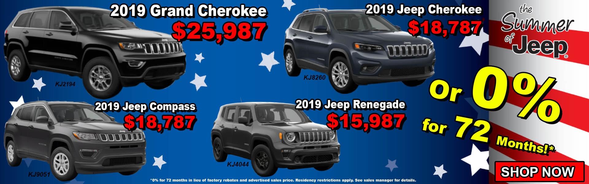 July 2019 4 Jeeps