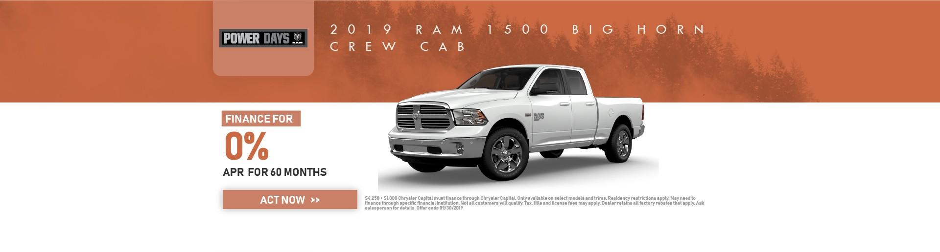 2019 Ram 1500 Big Horn Crew DS